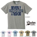 "【DEEDOPE】  ""BEVERLY BOULEVARD"" 半袖 プリント Tシャツ 綿100% カットソー"