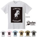 "【DEEDOPE】  ""CIRCUS ELEPHANT"" 半袖 プリント Tシャツ 綿100% カットソー"