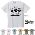 "【DEEDOPE】  ""PET FOREVER"" 半袖 プリント Tシャツ 綿100% カットソー"