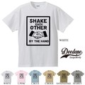 "【DEEDOPE】  ""SHAKE EACH OTHER "" 半袖 プリント Tシャツ 握手"