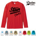 "【DEEDOPE】 ""STAIN "" ロンT 長袖 プリント Tシャツ"