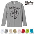 "【DEEDOPE】 ""STRONG "" ロンT 長袖 プリント Tシャツ"