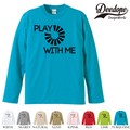 "【DEEDOPE】 ""PLAY "" ロンT 長袖 プリント Tシャツ"