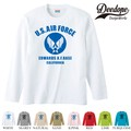 "【DEEDOPE】 ""AIR FORCE "" ロンT 長袖 プリント Tシャツ"