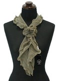 Scarf Double Frill Corsage Scarf