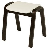 Chair Stool Brown Ivory