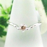 Silver 925 Birthstone Ring Diamond