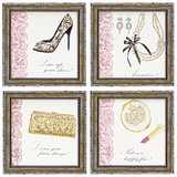 Art Frame Art Girly Shoe Heel Lace Resin Frame