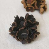 [SALE40%OFF] Brooch Leather Corsage Flower Motif