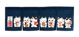 Japanese Style Fortune Japanese Noren Curtain Beckoning cat Navy