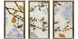 Art Frame 3 Pcs Set Flower Floral Pattern Resin Frame