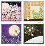 Flower Scenery Tapestry Wrapping Cloth Japanese Pattern Season Interior Accessory