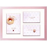 Photo Frame Pink Pearl A4 Brown Line Mat