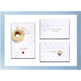 Photo Frame Blue Pearl A4 Blue Line Mat