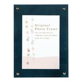 Color Board Photo Frame Blue Postcard