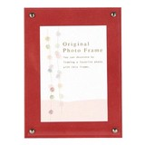 Color Board Photo Frame Red Postcard
