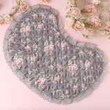 Rose Toilet Mat Gray Base