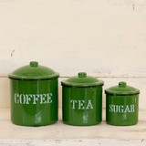 Enamel Star Set Green Antique Style