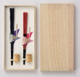 Couple Chopstick Set Octagon Chopstick Natural Wood Gift