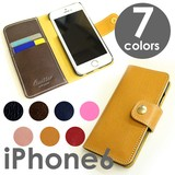iPhone6s Case Genuine Leather 6 Colors Notebook Type Case