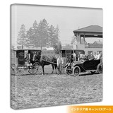 Horse-Drawn Carriage Photography Fabric Panel