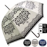 White S/S Sunshade Unisex Damask One push Umbrellas Countermeasure