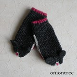 Animal Knitted Mitten Cat