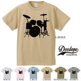 Short Sleeve Print T-shirt Drum Band Music