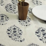 [SALE40%OFF] Tablecloth Herringbone Flower
