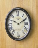 Oval Clock Brown