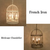 French Iron Birdcage Chandelier