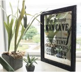 Glass Frame Glass Art Board Retro Cafe Interior Items