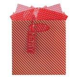 THE GIFT WRAP COMPANY クリスマスペーパーギフトバッグ <ストライプ>