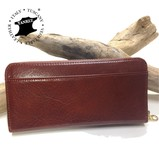 Italy Leather Round Long Wallet