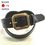 Oil Leather Belt Gold