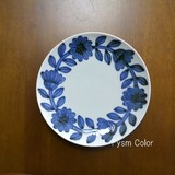 HASAMI Ware DAISY Plate Hand-Painted