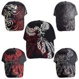 Continuation Japanese Pattern Embroidery Tribal Trucker Hat