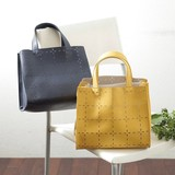 Leather Cut Square Bag
