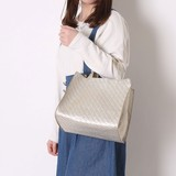 Mesh Synthetic Leather Square Bag