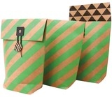 Gift Bag Stripe Present Gift Wrapping Package Bag