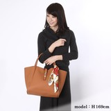 Scarf Attached Twist Metal Fittings Tote Bag