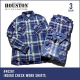 2017 Spring HOUSTON Indigo Checkered Shirt