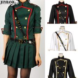 Color Line Military One-piece Dress Costume
