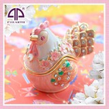 Zodiac Chiken Jewelry Jewelry Box Small Birds