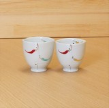 Red Pepper Japanese Tea Cup