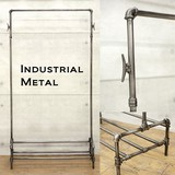 Industrial Metal Clothes Hanger Rack Separately