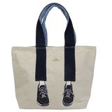 mis zapatos Tote Bag Denim Sneaker Tote Natural