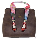 mis zapatos Shoulder Tote Synthetic Leather Pumps Brown