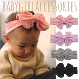 Round Cotton Ribbon Baby Washable Hair Band In Package