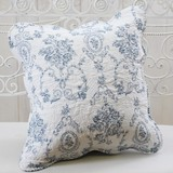 Cotton Quilt Cushion Cover Blue Series